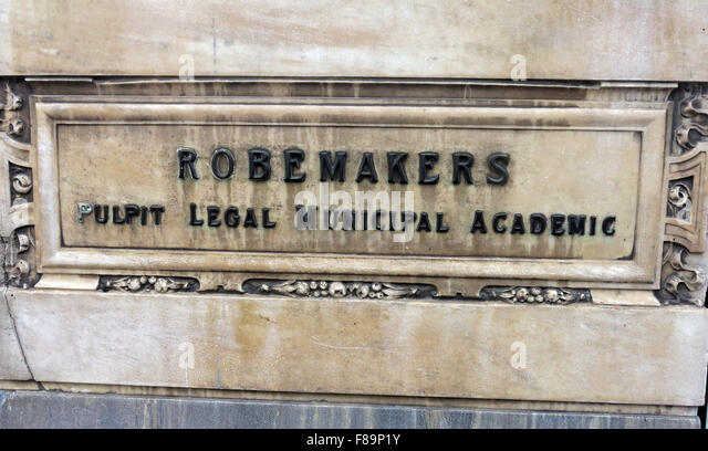 Robemakers Pulpit,legal,municipal,acedemic sign at Jenners Store, Edinburgh, Scotland - Stock Image