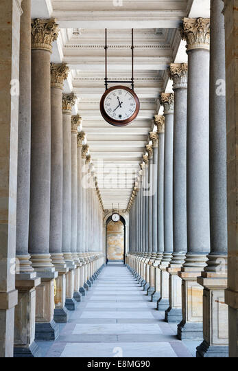 Colonnade in Karlovy Vary - Stock-Bilder