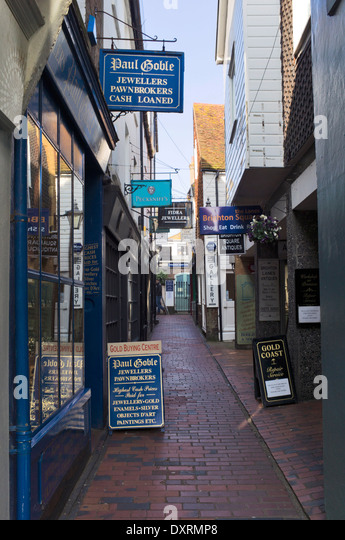 The Lanes, Brighton, England, UK - Stock Image