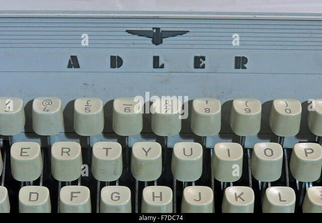 Antique Triumph Adler Gabriele20 mechanical typewriter - Adler logo - Stock Image