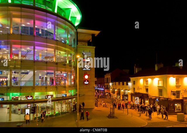 The Cornerhouse at night a leisureplex in the city centre of