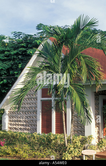 Grand Cayman Island West Indies Caribbean Conch Shell House - Stock Image