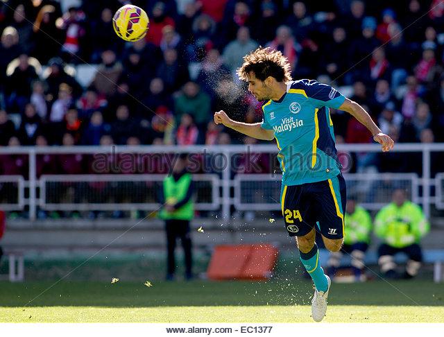 SPAIN, Madrid: Sevilla FC´s Spanish Defender player Alejandro Arribas during the Spanish League 2014/15 match - Stock Image
