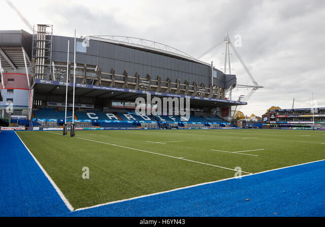 Cardiff arms park cardiff blues rugby stadium Wales United Kingdom - Stock Image