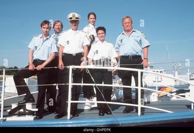 Die Küstenwache Dreiste Überfälle auf Frachtschiffe machen der Küstenwache zu schaffen. Als - Stock Image