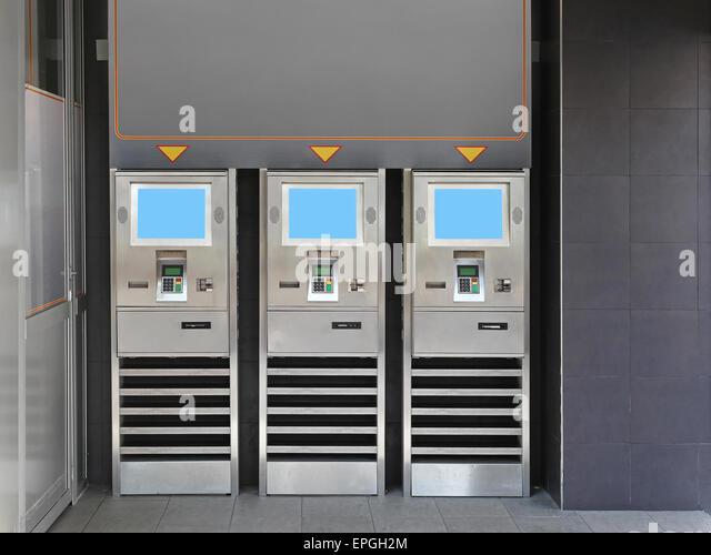 Ordering kiosk - Stock Image