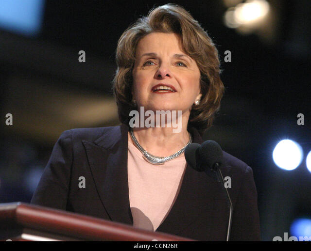 Jul 28, 2004; Boston, MA, USA; Senator DIANNE FEINSTEIN  at the 2004 Democratic National Convention held at the - Stock Image
