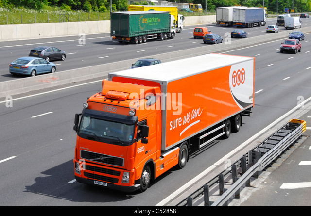 TNT lorry and trailer - Stock Image