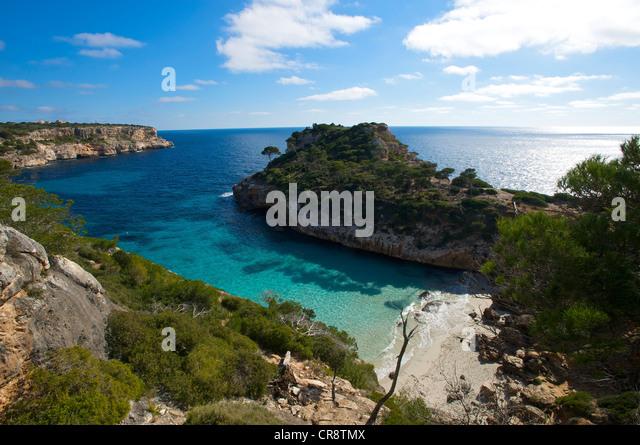 Cala S'Amonia, Majorca, Balearic Islands, Spain, Europe - Stock-Bilder