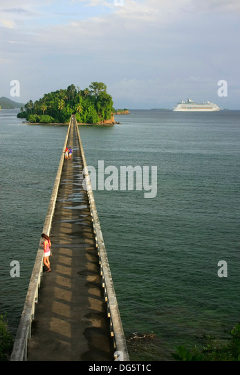 Bridge to Nowhere, Samana Bay, Dominican Republic - Stock Image