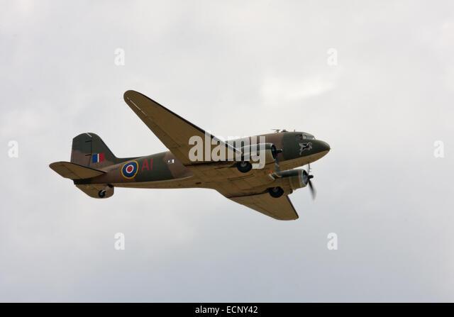 C-47 Dakota flying at Tangmere - Stock Image
