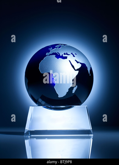 Glass globe vertical - Stock Image