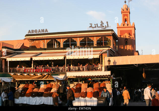 Cafe argana marrakech morocco stock photos cafe argana for Argana moroccan cuisine