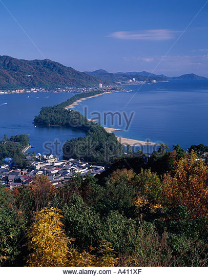 Miyazu Japan  city images : Amanohashidate Cable Miyazu Kyoto Japan Sky Mountain Sea Forest Tree ...