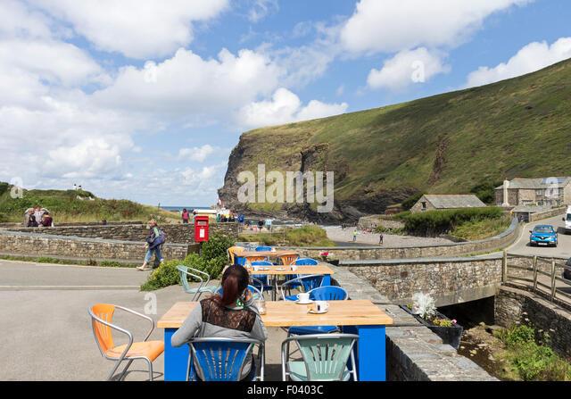 The Coastal Village of Crackington Haven in Summer, Cornwall UK - Stock Image