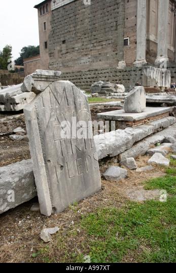 Relics of Antiquity, Roman Forum, Foro Romano, Rome, Italy - Stock Image