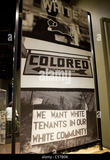 Signs from the American racism in the twentieth century - Stock Image