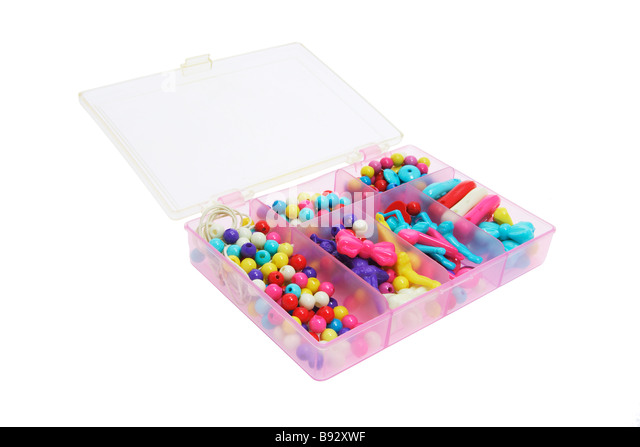 Box of Toy Beads - Stock Image