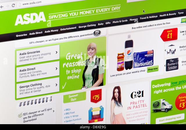 Asda Online Shopping Stock Photos Amp Asda Online Shopping