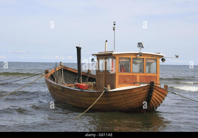 fishing boat at the German Baltic Sea - Stock Image