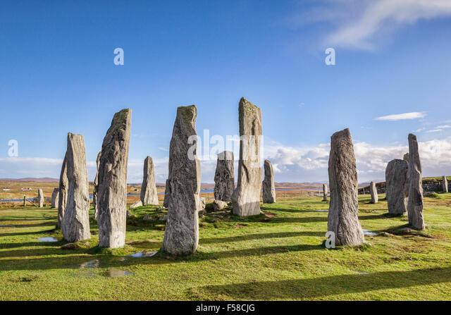Stone circle at Callanish, Isle of Lewis, Western Isles, Outer Hebrides, Scotland, UK - Stock Image