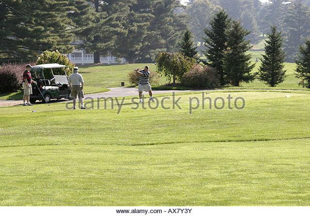 West Virginia Lewisburg Elks Club Public Golf Course - Stock Image