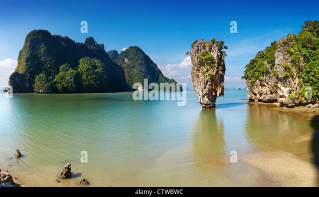 Phang Nga Bay, James Bond Island, Thailand - Stock Image