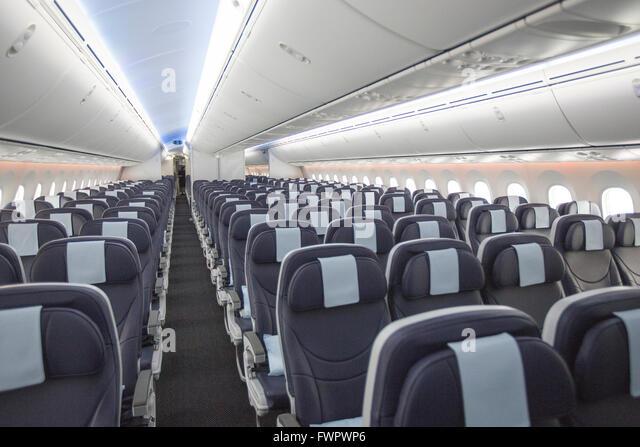 Boeing 787 dreamliner interior stock photos boeing 787 for Interior 787 aeromexico
