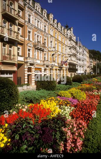 Flowers in Karlovy Vary Karlsbad (anglicised to Carlsbad) Czech Republic - Stock-Bilder