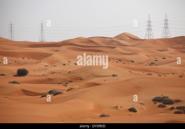 nature, landscape, desert, United Arab Emirates - Stock Image