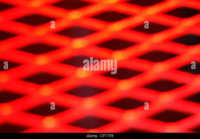 A still life shot of an abstract metallic hot background - Stock Image
