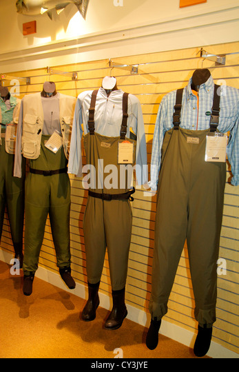 Maine Freeport Main Street Route 1 L. L. Bean shopping outdoor clothing fashion sports camping retail display for - Stock Image