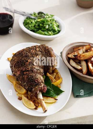 how to cook a whole lamb leg roast