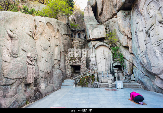 Seokbulsa Temple, Busan, South Korea, Asia - Stock Image