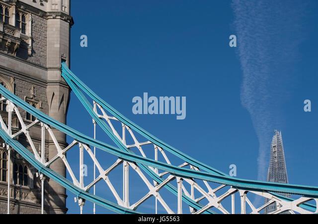 Tower Bridge in London, England, UK - Stock Image