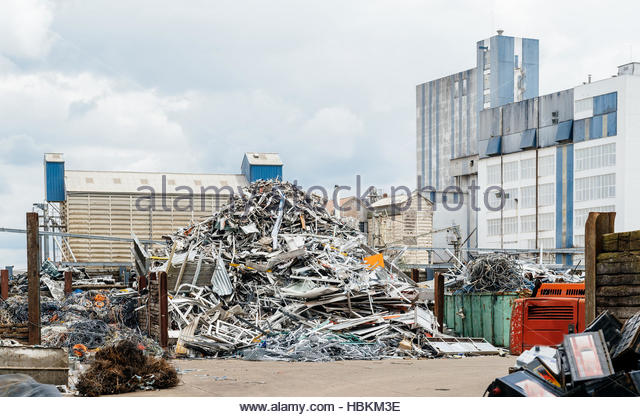 Metallic waste management solution - Stock Image