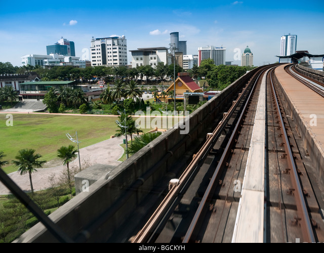 View of Taman Jaya from a LRT train - Stock Image