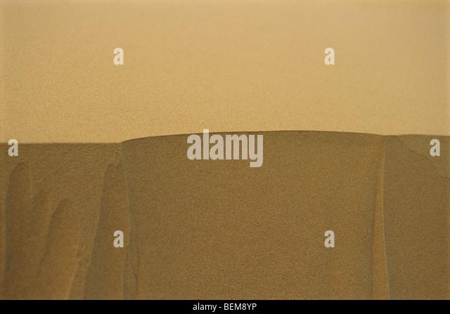 Dune in Sahara desert, Morocco, close-up - Stock Image