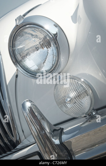 Vintage Automobile Front Center With One Headlight : White bumper stock photos images alamy