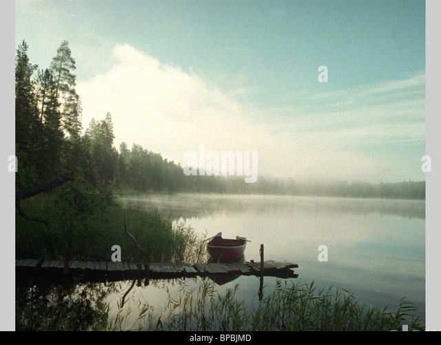 Karelia. Angozero Lake early in the morning. - Stock Image