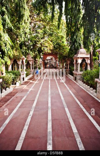 Walkway in a park, Rajkot, Gujarat, India - Stock-Bilder
