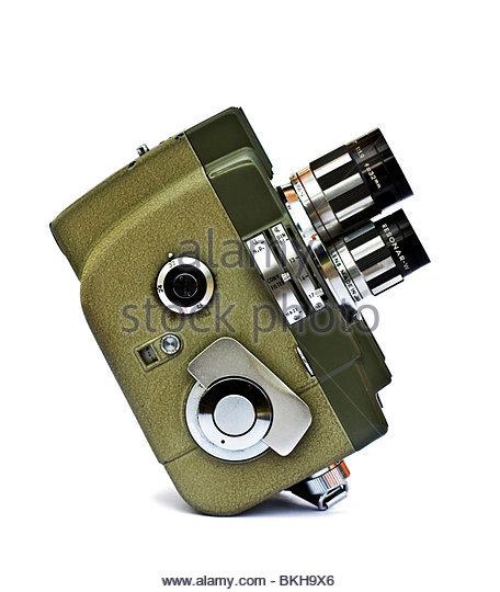 Retro 8mm film cine camera - Stock Image