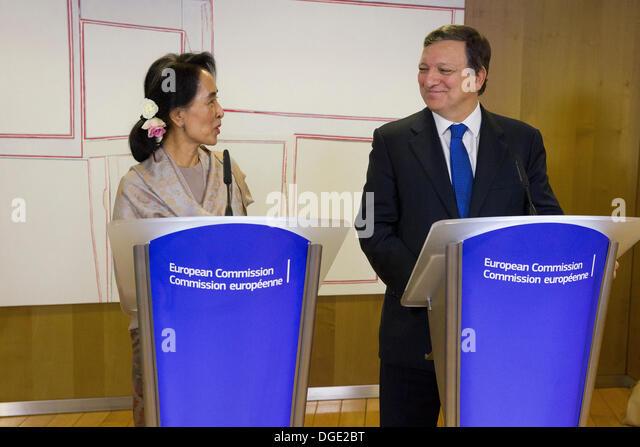 nobel peace prize Aung San Suu Kyi burma myanmar - Stock-Bilder