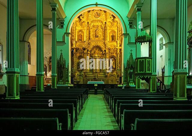 Church of the golden altar San José Panamá city Panamá - Stock Image