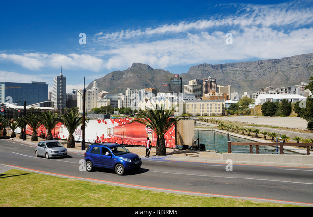 City center of Cape Town, Table Mountain, Foreshore, Cape Town, South Africa, Africa - Stock Image