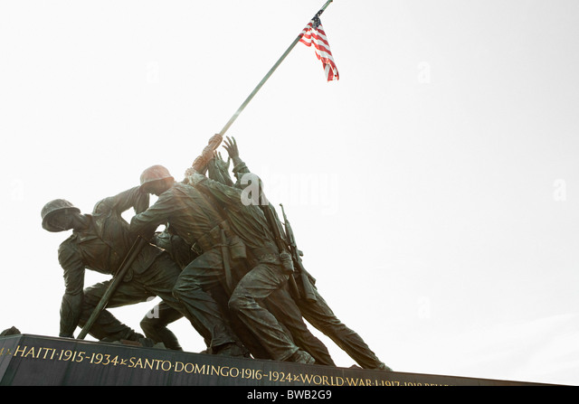 Marine corps war memorial, Arlington, Virginia, USA - Stock Image