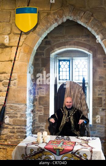 United Kingdom East Midlands Nottinghamshire Nottingham gatehouse dated 13th century entrance of castle Leon Unczer - Stock Image