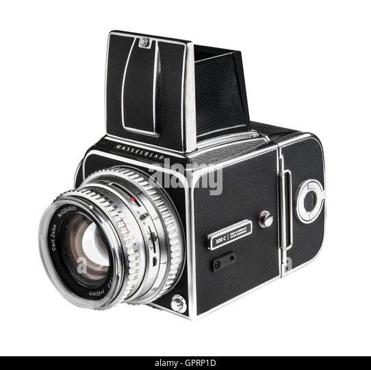 Rare 1972 Hasselblad 500 CM with C designation and 80 mm lens - Stock Image
