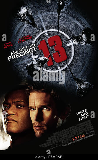 ASSAULT ON PRECINCT 13, Laurence Fishburne, Ethan Hawke, 2005, (c) Focus Features/courtesy Everett Collection - Stock Image
