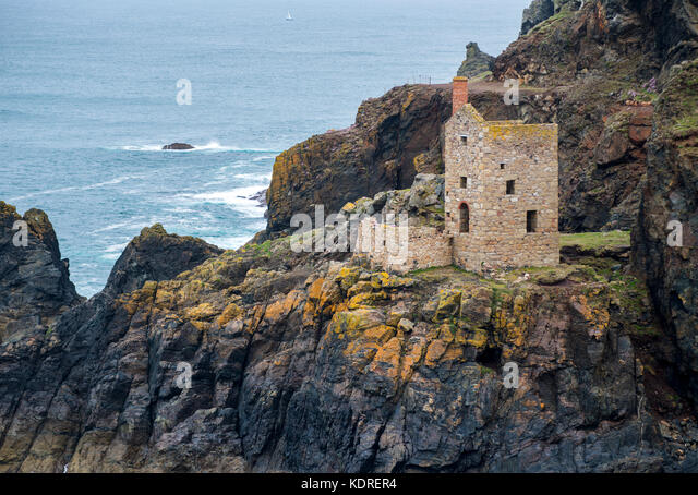 The Crown Mines at Botallack, Cornwall, England, UK - Stock Image